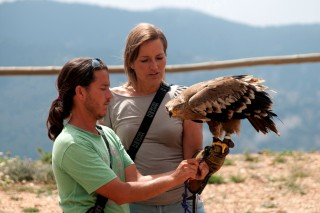 Eloi and Stania with an eagle
