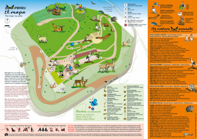 Map of the Zoo of the Pyrenees